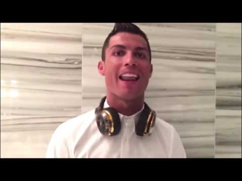 Cristiano Ronaldo singing with RedOne Dont You Need Somebody