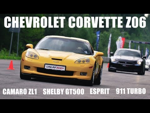 Corvette Z06 vs: Camaro ZL1 vs Shelby Mustang GT500 vs Lotus Esprit vs Porsche 911 Turbo