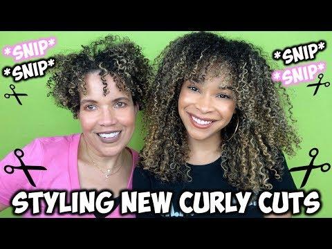 Short haircuts - Styling NEW Curly Cuts  Short Hair + Bangs