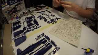 Corsair F4U-4 Model Kit - Time Lapse