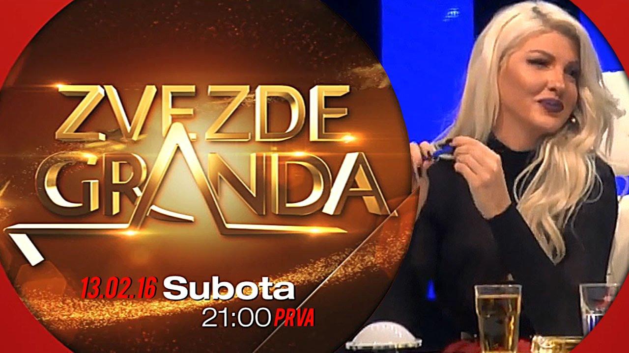 ZVEZDE GRANDA 2016 – dvadeset prva emisija – 13. 02. – najava