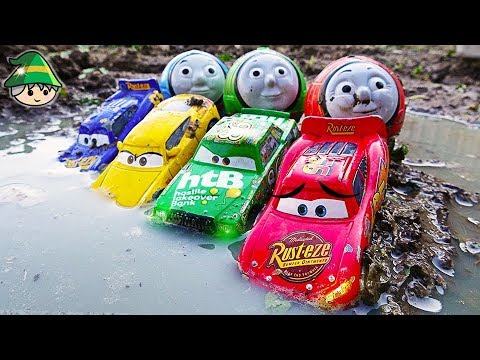 Disney's Lightning McQueen Learn Color by Car. Thomas train toys toys.