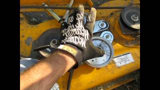 9. Cub Cadet Mower Belt (coming off) Deck Fix LT 1045 Part 1