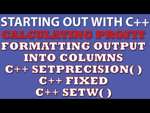 C++ Programming Challenge: Calculate Profit (formatting C++ output into columns)