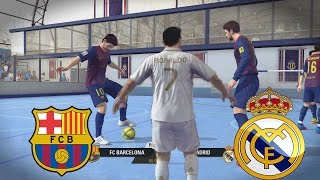 Video Fifa Street - El Clasico Barcelona vs Real Madrid en Un partido de Futbol Sala MP3, 3GP, MP4, WEBM, AVI, FLV Desember 2017