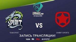 Spirit vs Gambit, China Super Major CIS Qual, game 1 [Eiritel, Maelstorm]