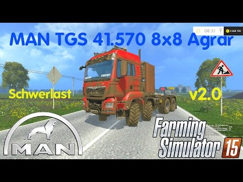 TGS 41 570 8x8 agricultural heavy duty v2.0