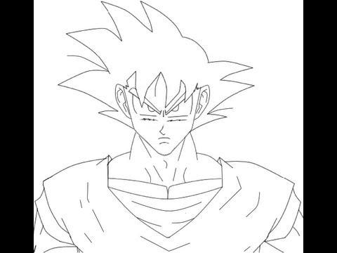 how to draw goku (como desenhar o goku).