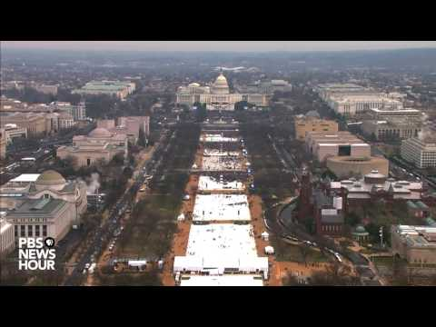 Watch a timelapse of the National Mall on Inauguration Day (видео)
