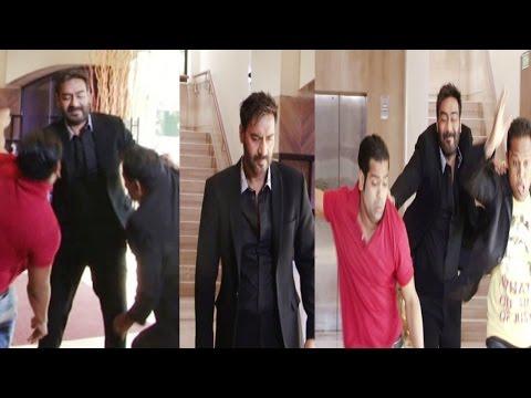 Ajay Devgn On Set OF CID For Promotion Action Jackson