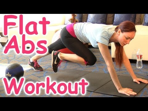 Ab Workout for Women, 8 Minute Six Pack | Home Beginners Flat Abs Fitness Training Exercise Work Out