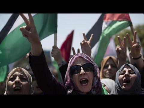 Διαδηλώσεις στη Λωρίδα της Γάζας για τις προσαρτήσεις από το Ισραήλ…
