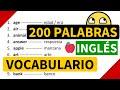 200 palabras importantes en inglés y su significado en español con pronunciación [Vocabulario 2]