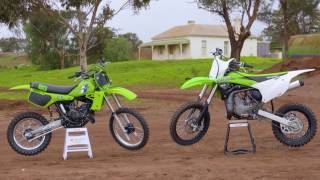 2. MXTV Bike Test - Kawasaki 1983 KX80 versus 2016 KX85