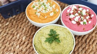 Hummus | 3 Delicious Ways by The Domestic Geek