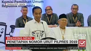 Video Jokowi: Satu Memang yang Diperebutkan untuk RI 1 | Penetapan Nomor Urut Pilpres 2019 MP3, 3GP, MP4, WEBM, AVI, FLV Oktober 2018