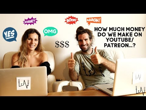 HOW MUCH MONEY do we make on Youtube, Patreon & from one time Donations! Travel Vloggers Reality