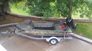 8. HydroTurf install in a Grizzly Tracker 1548 duck boat