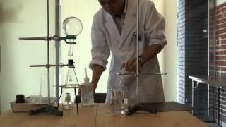 アンモニア噴水の実験