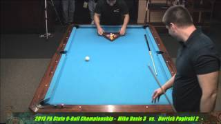 Mike Davis Vs Derek Pogirski 2013 PA State 9-Ball Championships