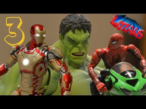 IRONMAN STOP MOTION Action Video Part 3