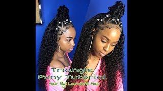 Video Small Triangle Ponytail Quick Weave   Lumiere Hair Tutorial MP3, 3GP, MP4, WEBM, AVI, FLV Januari 2019
