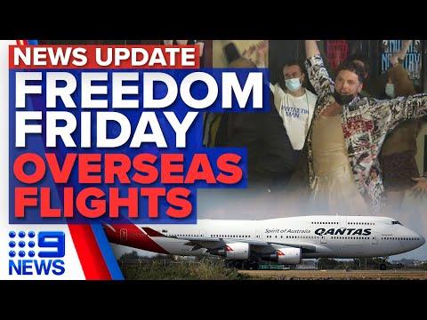 Melbourne celebrates as lockdown eases, International flights to start earlier | 9 News Australia