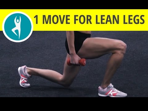 Best leg and butt workout: lunges with weights