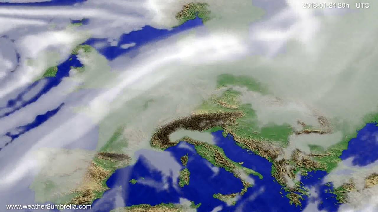 Cloud forecast Europe 2018-01-22