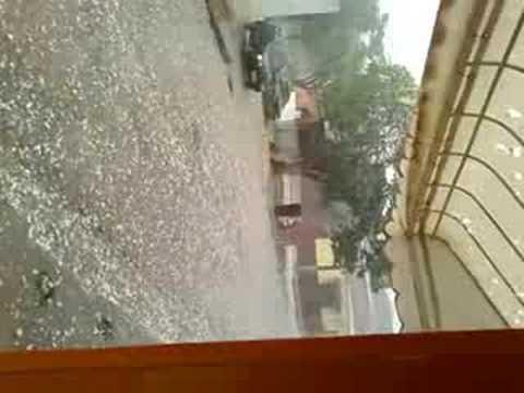 Chuva de granizo em Bambuí MG