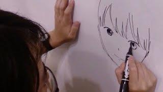 押見修造によるライブペインティング映像が公開!/映画『志乃ちゃんは自分の名前が言えない』特別映像