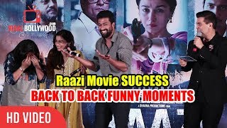 Video Raazi Movie Success Party | All Funny Moments | Alia Bhatt, Karan Johar, Vicky Kaushal MP3, 3GP, MP4, WEBM, AVI, FLV Oktober 2018