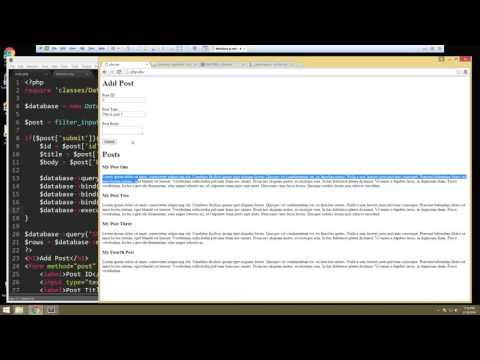 Learn How to Create a Database using PHPMyAdmin and OOP - Part 5