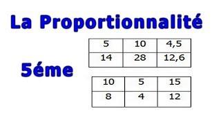 Maths 5ème - La proportionnalité Exercice 18