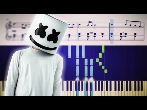 Marshmello - PROUD - Piano Tutorial + SHEETS