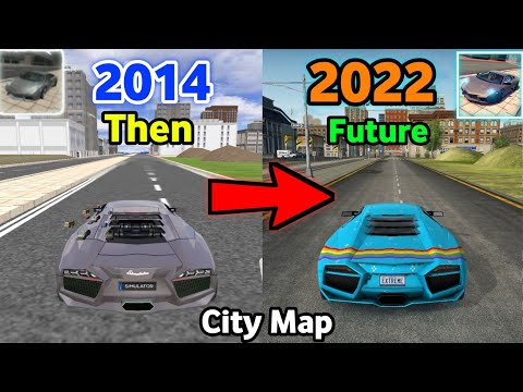 Evolution Of City Map In Extreme Car Driving Simulator (2014 - 2022)