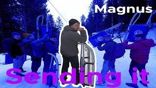 Magnus Midtbø SENDS IT in snow || Bouldering Bobat by Bouldering Bobat
