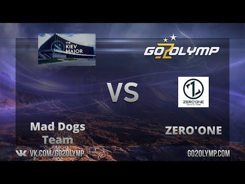 Dota 2: ZERO'ONE vs Mad Dogs Team. The Kiev Major, CIS, Открытые Квалификации