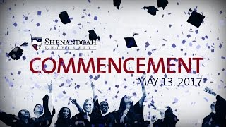 Shenandoah University held its 2017 Commencement on May 13, celebrating 210 August 2016 graduates, 287 December 2016 ...