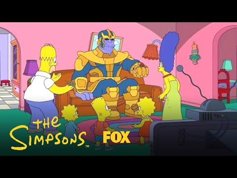 Thanos Disappears  The Simpsons  in a Couch
