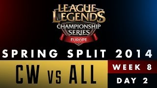 LCS EU Spring Split 2014 - CW vs ALL - Week 8 Day 2
