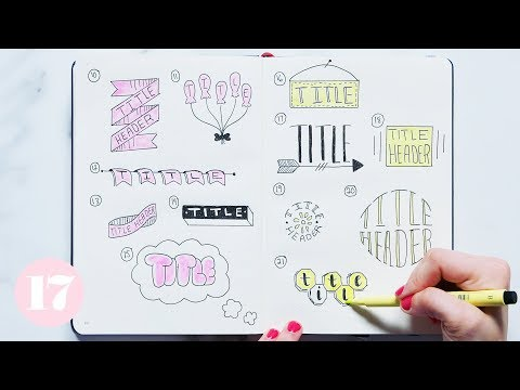 Bullet Journal Header And Title Ideas | Plan With Me