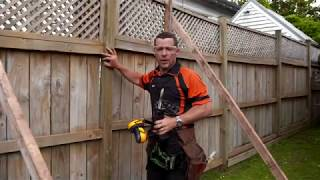 How to Repair a Leaning Fence