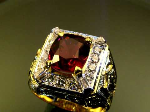 VANTE'Gold Top..!! DESIGN RUBY DIAMOND 18K YELLOW GOLD RING JEWELRY