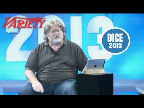 dice - 2013 D.I.C.E. Videos Here: http://bit.ly/10MKScD Gabe Newell, Creator of Half-Life 2 and GM and Co-founder of Valve, gives his keynote speech at the 2013 D.I...