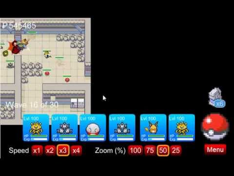 Pokemon Tower Defense - Tutorial - How to catch Zapdos in the Power Plant - PTD 0.8