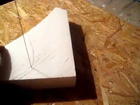 Как вырезать из пенопласта своими руками