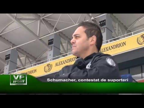 Schumacher, contestat de suporteri
