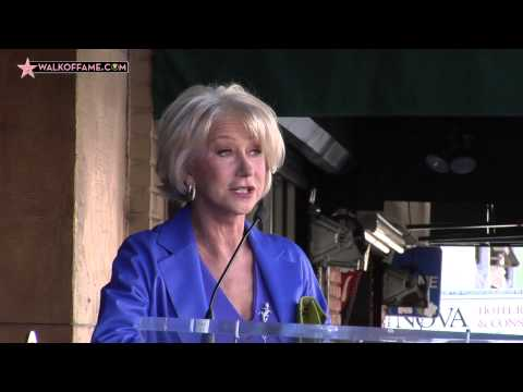 Helen Mirren Walk of Fame Ceremony