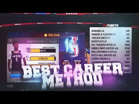 BEST MYCAREER METHOD IN NBA 2K19 - FASTEST WAY TO GET 99 OVERALL